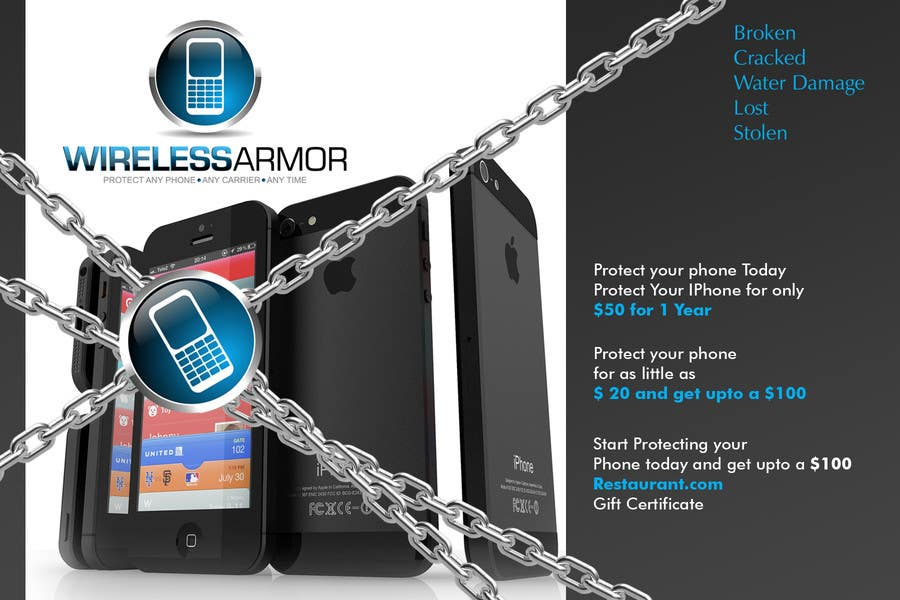 #6 for Design a Flyer for Wireless Armor by Sahir75