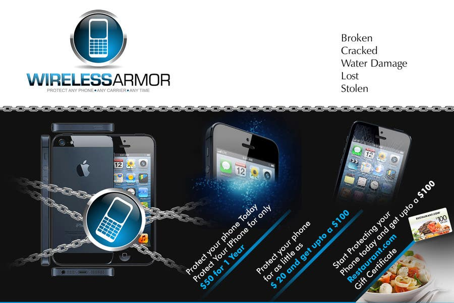 #11 for Design a Flyer for Wireless Armor by Sahir75