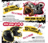 Contest Entry #1 for Voucher Design graphic front & Back for helmet brand Size: 7x14cm