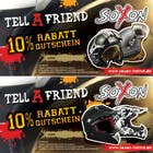Contest Entry #3 for Voucher Design graphic front & Back for helmet brand Size: 7x14cm