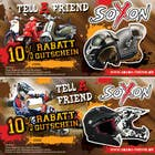 Contest Entry #8 for Voucher Design graphic front & Back for helmet brand Size: 7x14cm