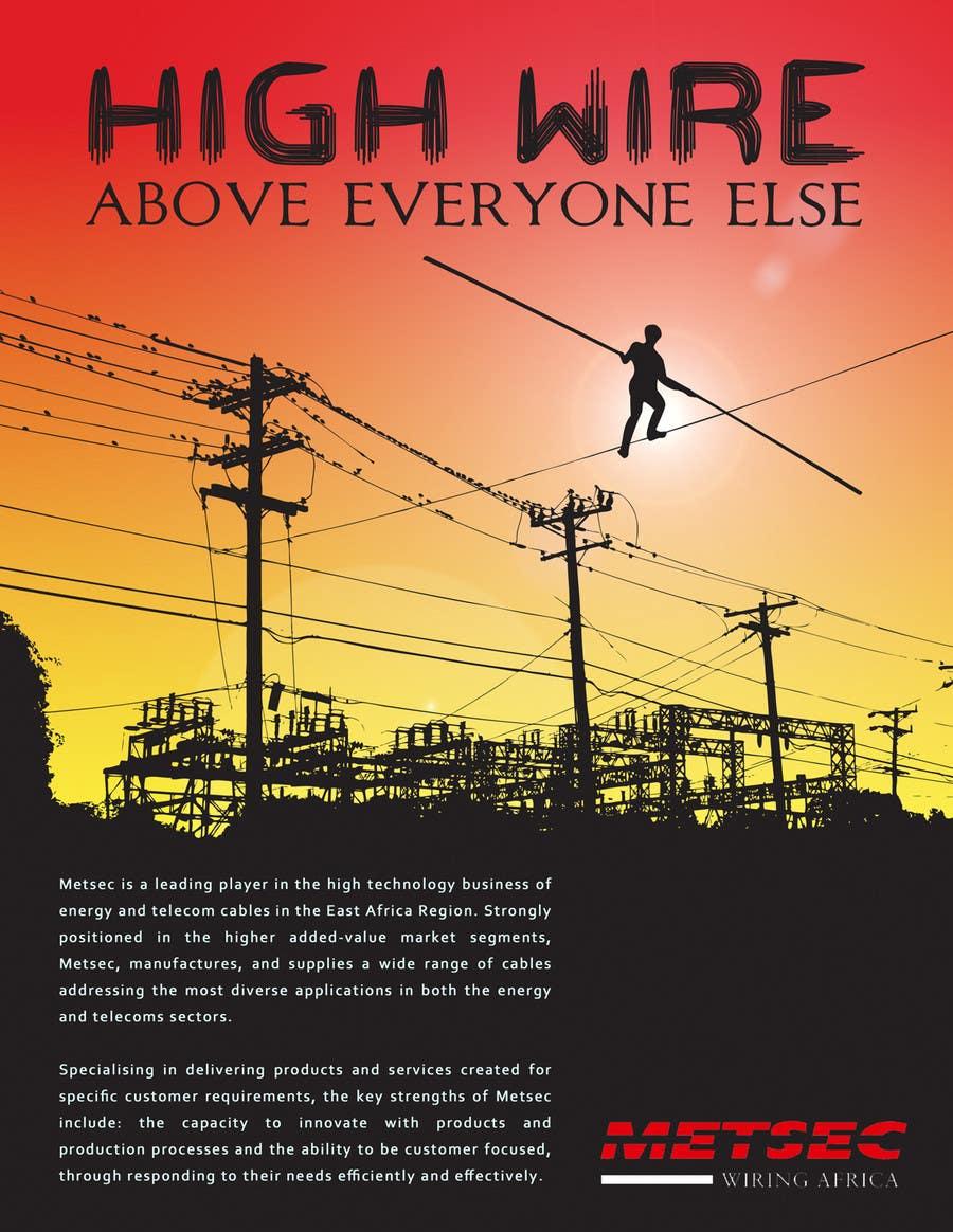 Wettbewerbs Eintrag #                                        46                                      für                                         Advertisement Design for Metsec Cables Ltd