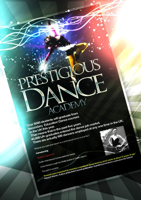 #18 for Design a Flyer for a prestigious dance academy by narina2014