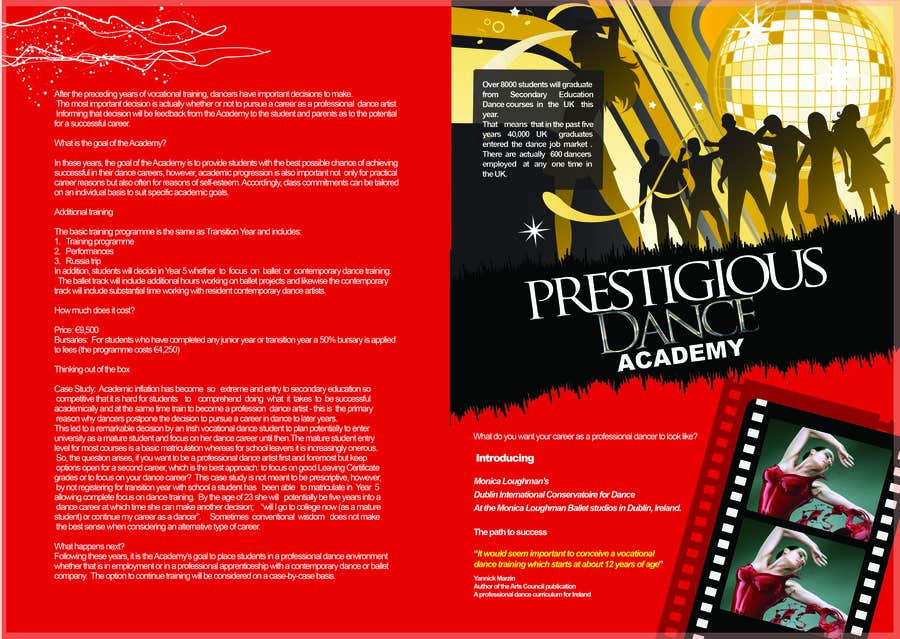 Proposition n°46 du concours Design a Flyer for a prestigious dance academy