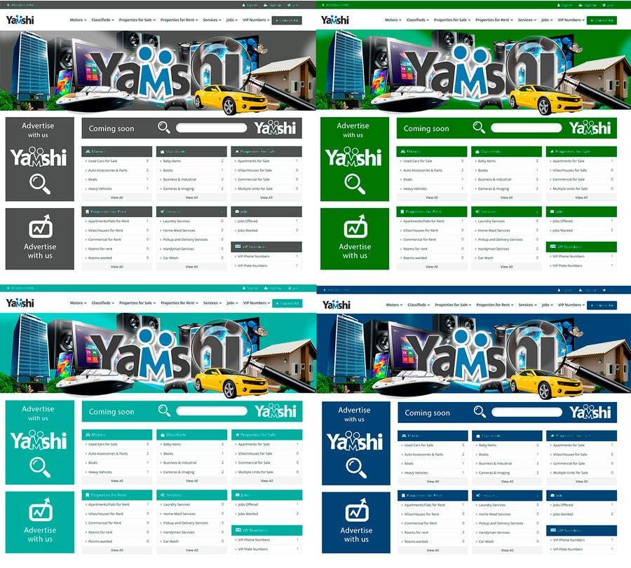 Kilpailutyö #10 kilpailussa design 3 banners and 1 slider image for classified portal