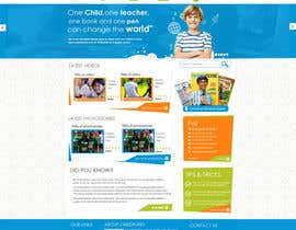 #57 para Design a Website Mockup for educational online magazine for children por MagicalDesigner