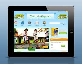 #25 cho Design a Website Mockup for educational online magazine for children bởi iNoesis