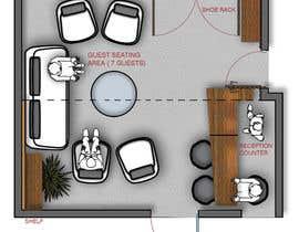 Nro 12 kilpailuun Reception and guest area makeover käyttäjältä dfpizanoarquitec