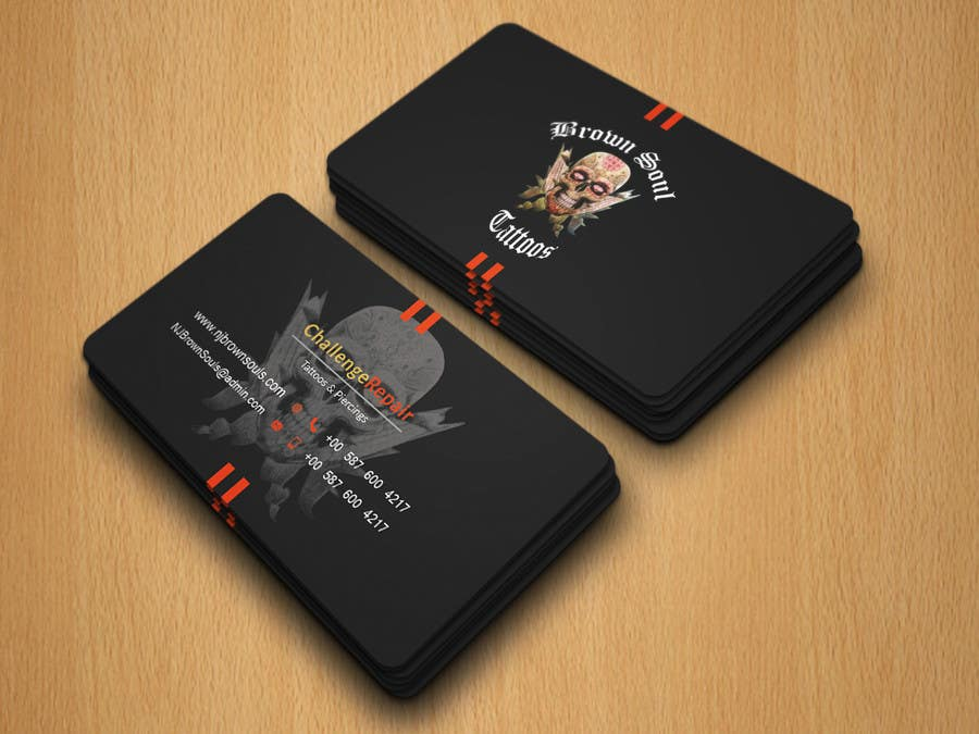 Entry #18 by robiul215 for Tattoo Shop business card design | Freelancer