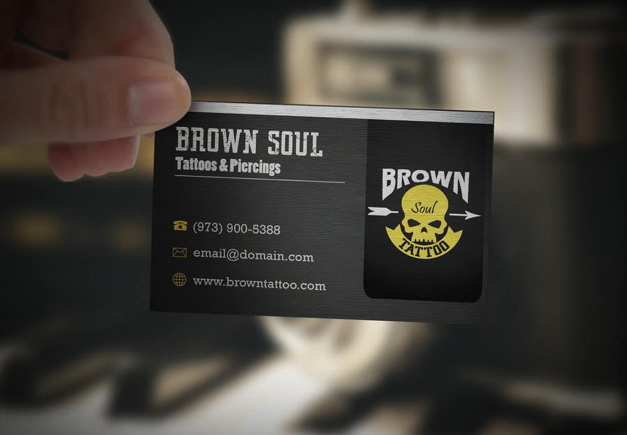 Entry #26 by Roboda for Tattoo Shop business card design | Freelancer