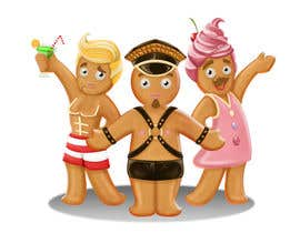 #57 untuk Illustration of Gay Gingerbread Men oleh Milos009