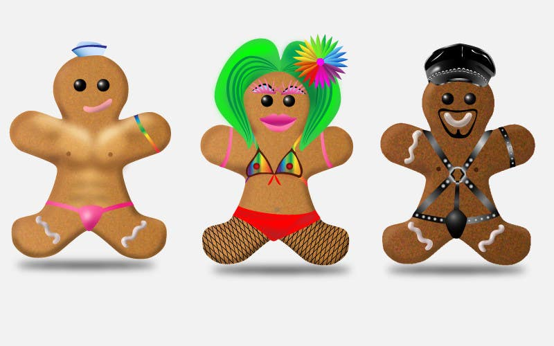 Gingerbread man gay