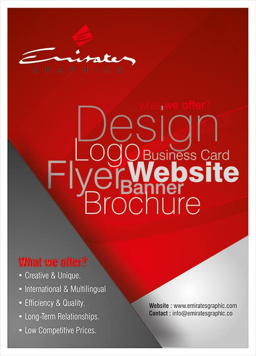 #40 for Design a Flyer for Emirates Graphic by graphics15