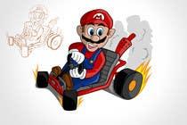 Draw Super Mario Kart caricature için Graphic Design7 No.lu Yarışma Girdisi