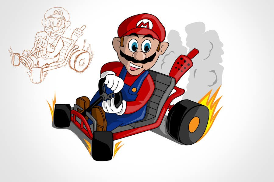#7 for Draw Super Mario Kart caricature by rogeliobello