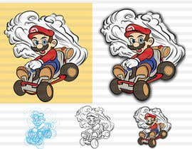 #33 for Draw Super Mario Kart caricature af leninvallejos