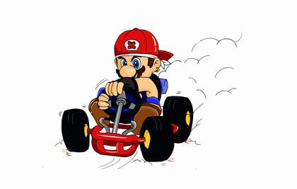 #45 for Draw Super Mario Kart caricature by Izunyan