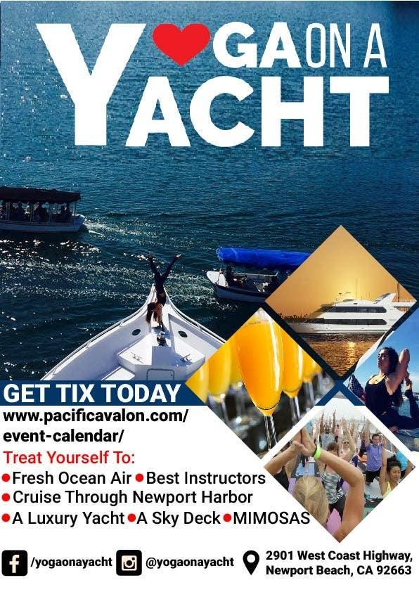 Penyertaan Peraduan #                                        40                                      untuk                                         Design Yoga on a Yacht Flyer