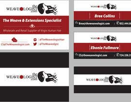 #12 untuk Create Luxe Business Cards for Hair company oleh yaxtream