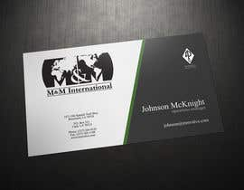#103 untuk Business Card Design for M&M International oleh Zveki