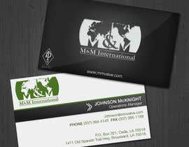 #65 untuk Business Card Design for M&M International oleh jennfeaster