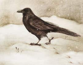 #49 for Illustration of Raven in Snow by marinaChe