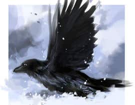 #2 for Illustration of Raven in Snow by matiasrehren