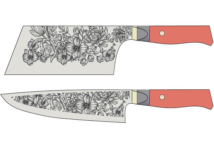 Penyertaan Peraduan #                                        15                                      untuk                                         I need a Grafik Design to etch on my Kickstarter Knife Series