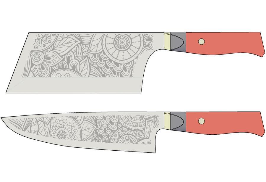 Penyertaan Peraduan #                                        1                                      untuk                                         I need a Grafik Design to etch on my Kickstarter Knife Series