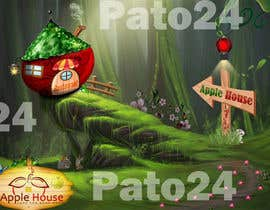 #3 untuk Фотоколлаж или оригинальная картина, обыгрывающая яблоко-домик oleh Pato24