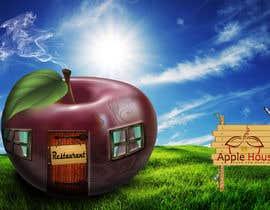 #8 untuk Фотоколлаж или оригинальная картина, обыгрывающая яблоко-домик oleh Pato24
