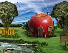 #5 untuk Фотоколлаж или оригинальная картина, обыгрывающая яблоко-домик oleh zigaidavarkuta