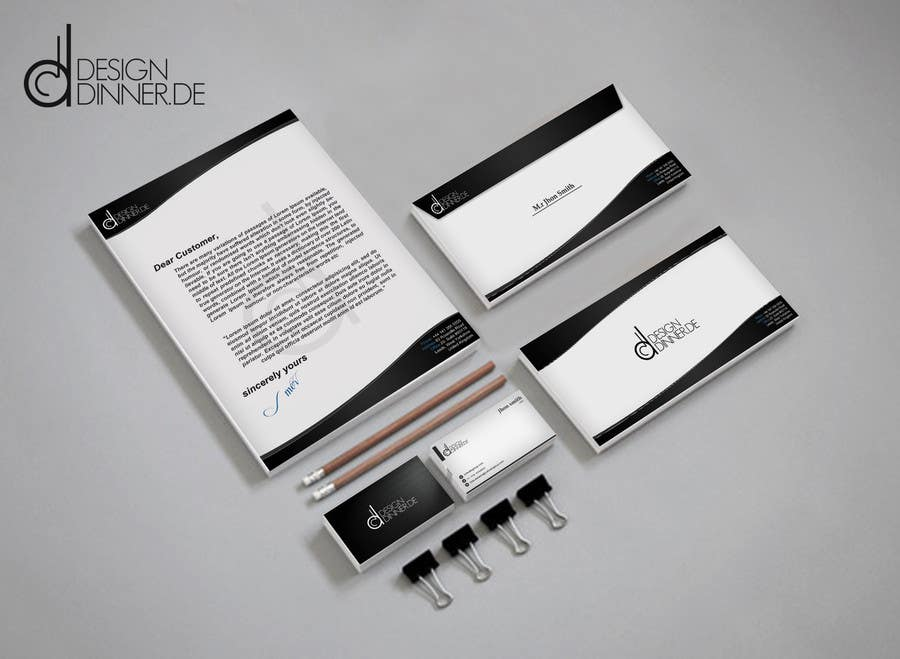 #13 for Create Business set (Paper, Business Cards,..) for Company by Artimization