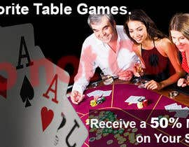 #9 for Table Games Banner for an Online Casino by angelina82