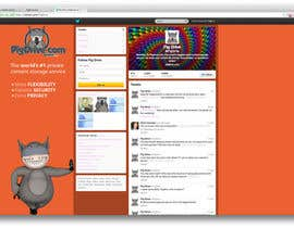 #4 untuk Design a Twitter background for pigdrive.com oleh ejwebdesign