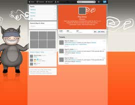 #10 untuk Design a Twitter background for pigdrive.com oleh EmiRoldan