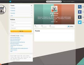#19 untuk Design a Twitter background for pigdrive.com oleh joejoe31b