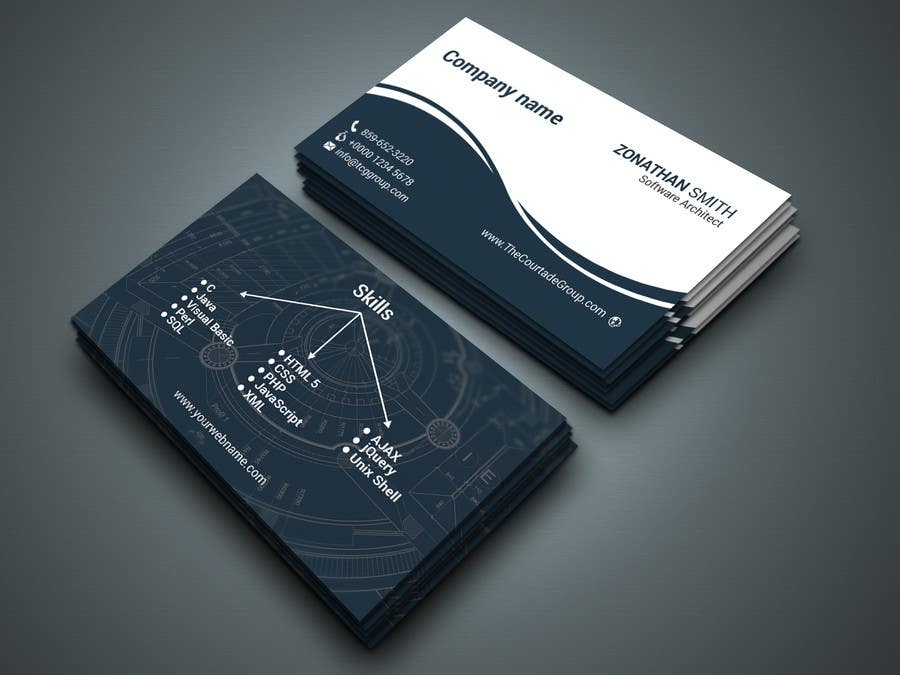 contest entry 36 for need a business card for a software architect - Architect Business Card