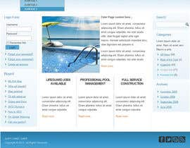 #18 for Wordpress Template For Swimming Pool Company af xahe36vw