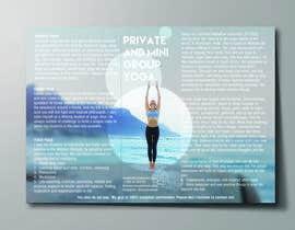 Nro 24 kilpailuun Design a brochure: private yoga teaching käyttäjältä Monksimpression