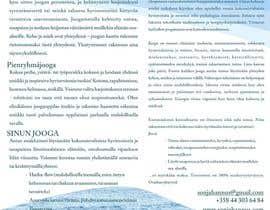 Nro 9 kilpailuun Design a brochure: private yoga teaching käyttäjältä HammerDes