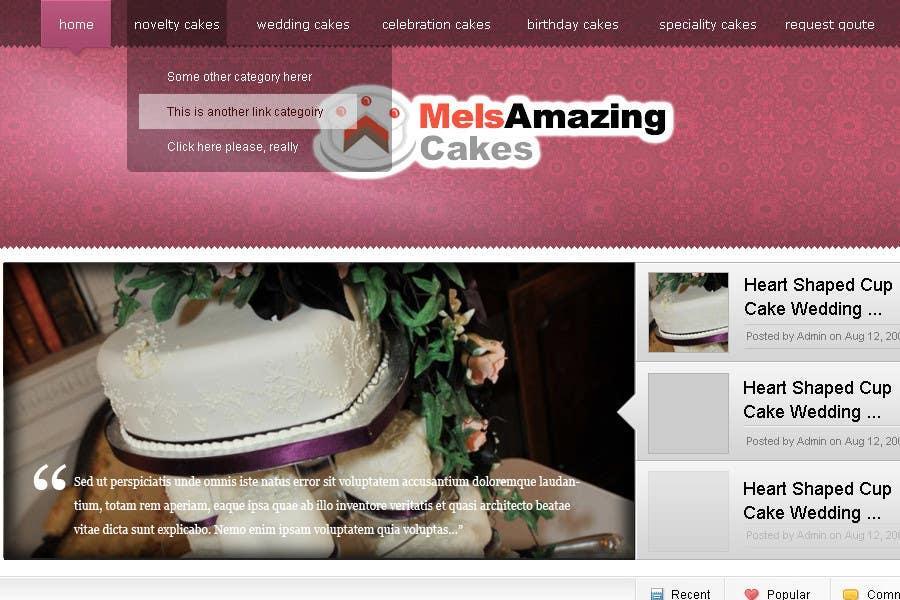 Inscrição nº                                         4                                      do Concurso para                                         Wordpress Theme Design for Melanies Amazing Cakes