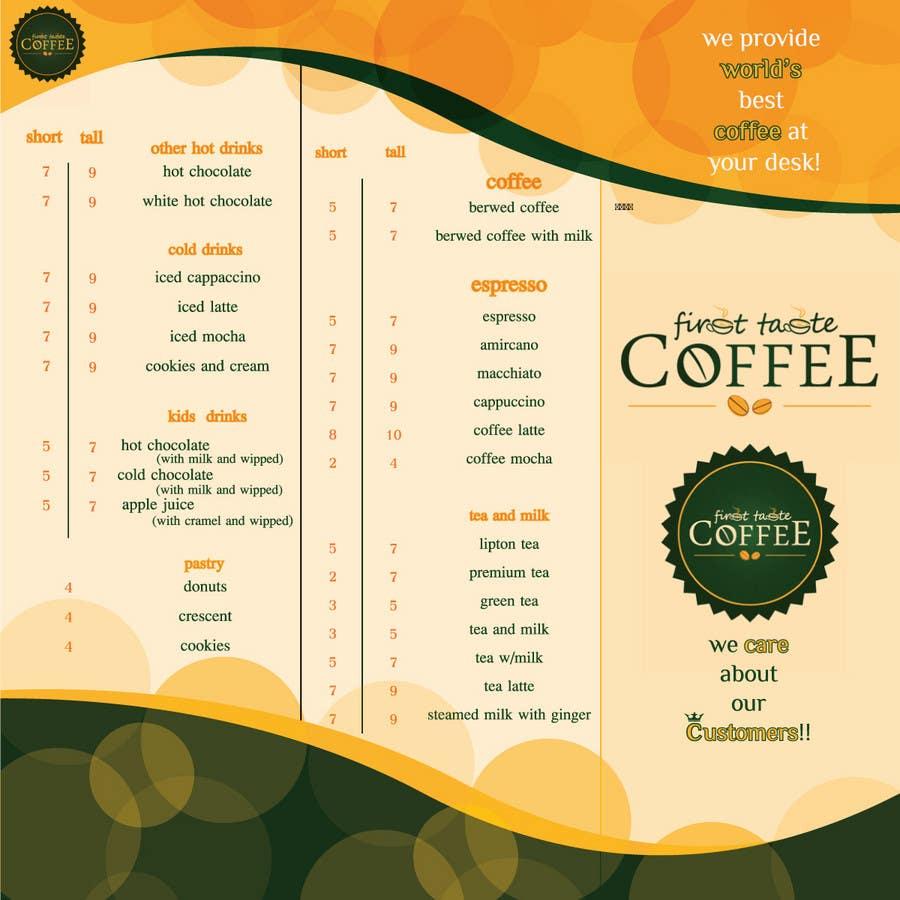 Inscrição nº 16 do Concurso para Stationery Design for First taste Coffee