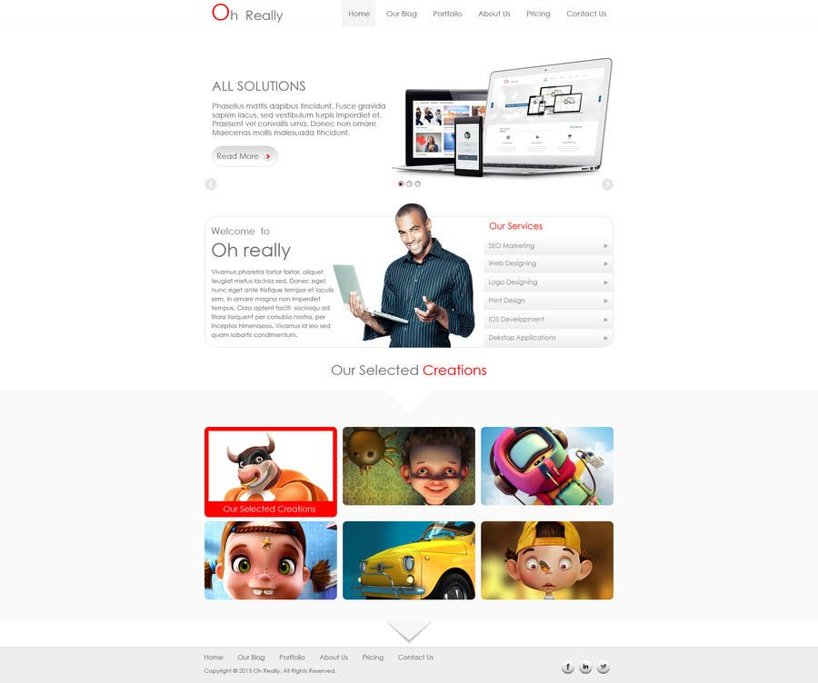 #2 for Design a clean and modern original PSD template by tania06