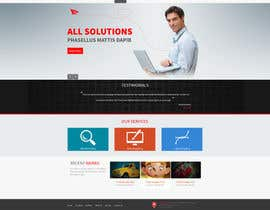 nº 7 pour Design a clean and modern original PSD template par tania06