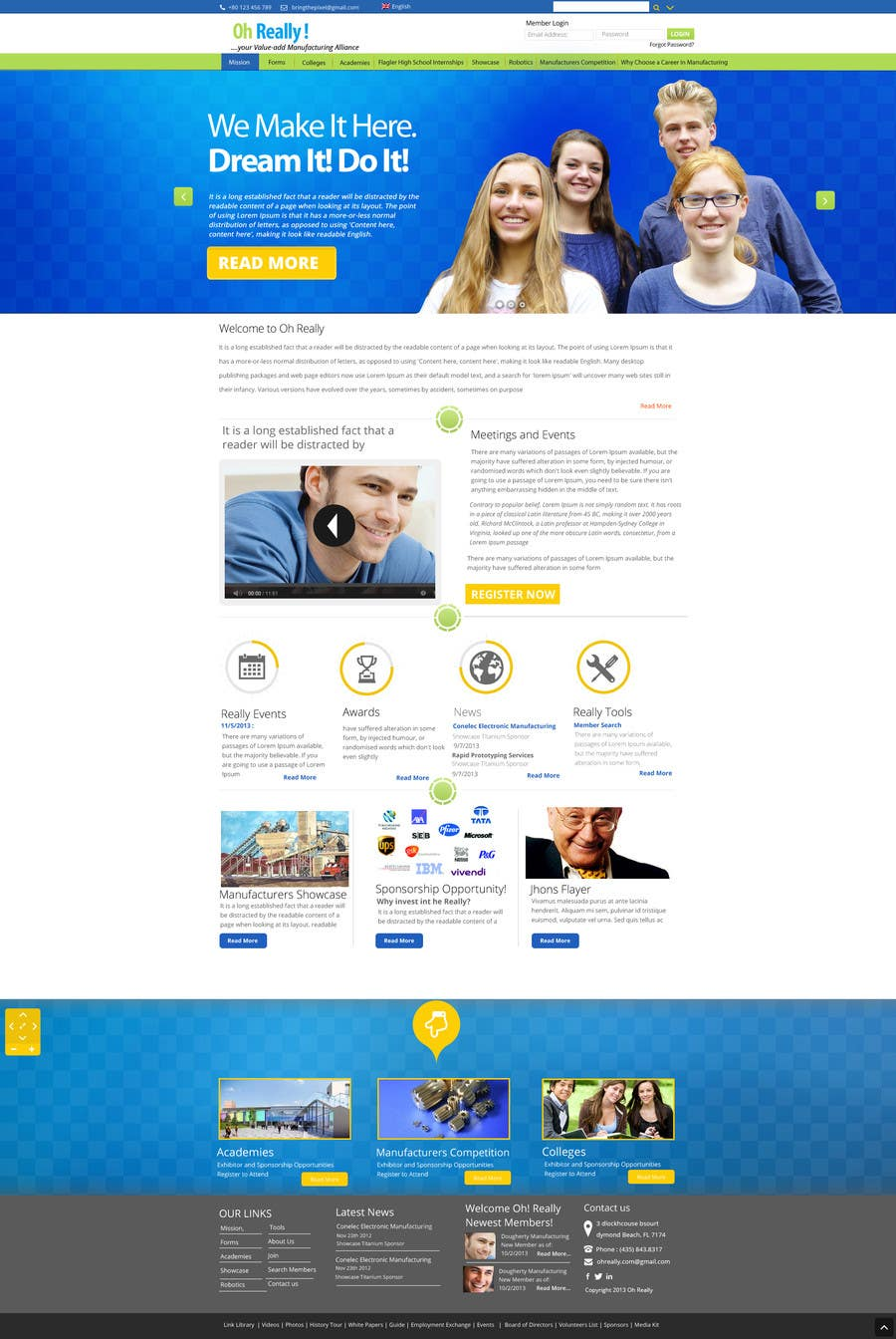 #10 for Design a clean and modern original PSD template by MagicalDesigner