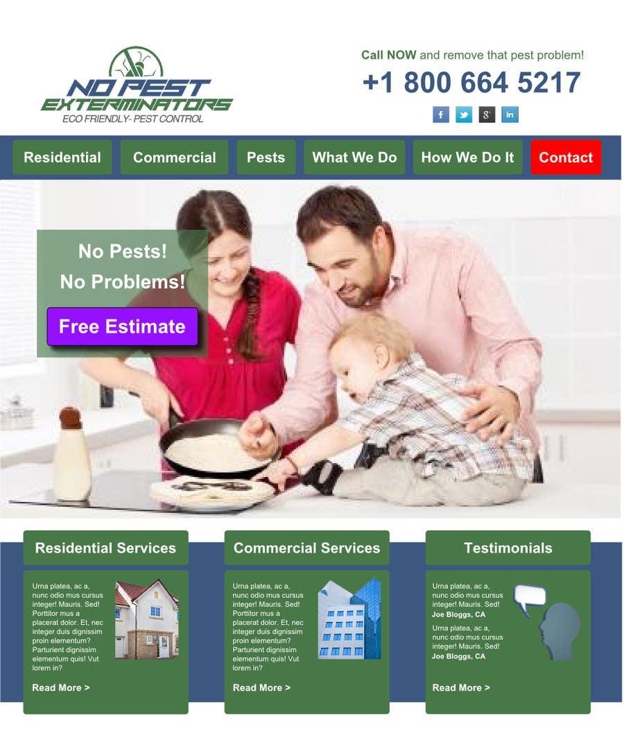 #12 for Build a Website/Splash page for No Pest Exterminators Inc. by namco