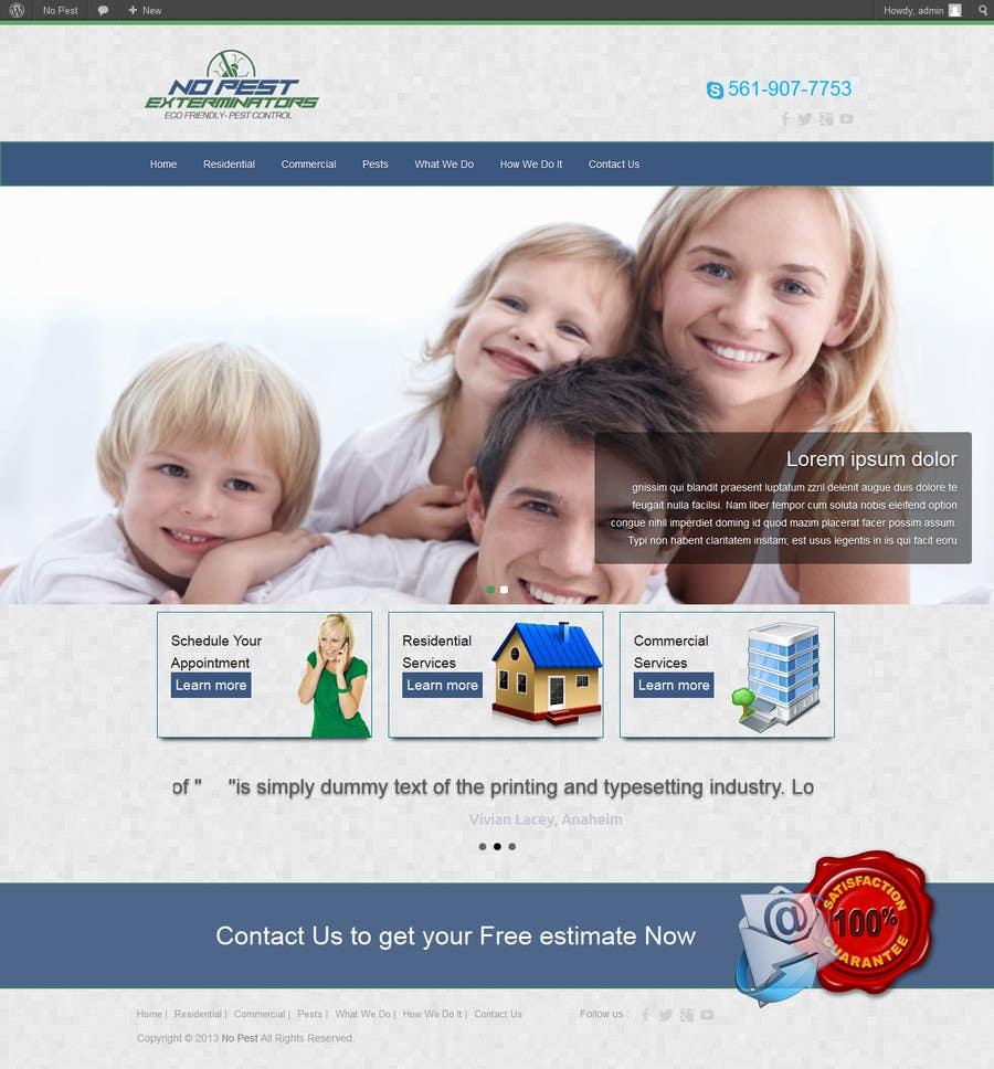 #10 for Build a Website/Splash page for No Pest Exterminators Inc. by codeunderground