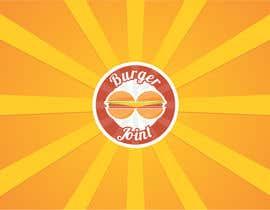 Nro 31 kilpailuun Design a simple minimalist-ish logo for a burger joint käyttäjältä namishkashyap