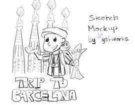 #16 for Barcelona Trip Website Logo with a Character Mascot (read carefully my requirements) af ysfworks